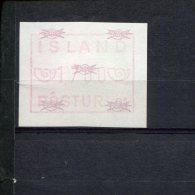 240407009 IJSLAND   POSTFRIS MINT NEVER HINGED POSTFRISCH EINWANDFREI ATM MICHEL 1.1 B FACIALE 1700 - Vignettes D'affranchissement (Frama)