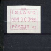 240407100 IJSLAND   POSTFRIS MINT NEVER HINGED POSTFRISCH EINWANDFREI ATM MICHEL 1.1 B FACIALE 1600 - Vignettes D'affranchissement (Frama)