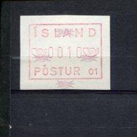 240407315 IJSLAND   POSTFRIS MINT NEVER HINGED POSTFRISCH EINWANDFREI ATM MICHEL 1.1 B FACIALE 0010 - Vignettes D'affranchissement (Frama)