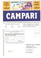 BOL5 - LOTTERIA Nazionale Dello Spettacolo . Cartolina Nuova Pubblicità Campari - Cartoline