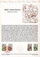 """1978 """" CROIX-ROUGE 1978 : FABLES DE LA FONTAINE """" Sur Doc Officiel 1°Jour N° YT 2024 25. Parfait état + Prix Degr ! DPO"""