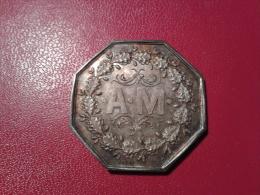 JETON EN ARGENT DU XIXe (ASSURANCE MUTUELLE...). - Medals