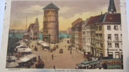 AK Düsseldorf, Burgplatz Mit Schloßturm Vom 12.5.1924 - Düsseldorf