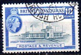 BRITISH HONDURAS 1953 Queen Elizabeth II - 10c Stanley Field Airport FU - British Honduras (...-1970)