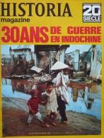 HISTORIA MAGAZINE - 20è SIECLE -  30 ANS DE GUERRE EN INDOCHINE - No 190 - Revues & Journaux