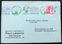 Nürnberg Die Stadt Der Reichsparteitage, Propagandastempel Auf Umschlag Nach Berlin - Deutschland