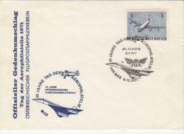 PLANES, CONCORDE, SPECIAL COVER, 1971, AUSTRIA - Concorde