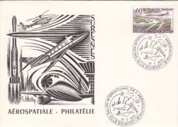 PLANES, CONCORDE, HELICOPTER, SPACE SHUTTLE, SPECIAL COVER, 1975, FRANCE - Concorde