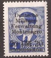 1943 GERMANIA DEUTSCHE BESETZUNG MONTENEGRO CRNA GORA  MILITAER-VERWALTUNG  NO GUMM-OHNE GUMMI - Occupation 1938-45