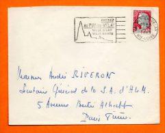 PUY EN VELAY      VILLE SAINTE   9  / 8 / 1963       Lettre Entière N° D 621 - Postmark Collection (Covers)