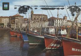 Bermeo Vizcaya Barques Dans Le Port - España