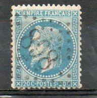 FRANCE    20 C    Année 1867   Y&T: 29B   Type Napoléon III Lauré   (oblitéré) - 1863-1870 Napoléon III Lauré