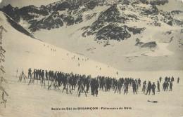 ECOLE DE SKI DE BRIANCON - FALSCEAUX DE SKIS - ANIMEE - SPORT D' HIVER - 05 CPA - Briancon