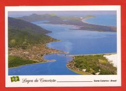Brésil - Florianopolis - SC - Vue Aérienne De La Lagune De Conceiçao - Avec Timbre - - Florianópolis