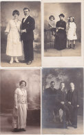 ��  -   Lot de 16 Cartes Photo non Situ�es  -  Groupe , Femme , Homme , Enfant     -  ��