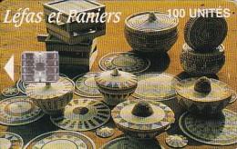 Guinea, GUI-D8, 100 Unites, Léfas Et Paniers, 2 Scans.    SchlumbergerSema Logo. - Guinea