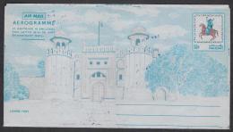 PAKISTAN 1976 Postal Stationery 50 Paisa Pictorial Aerogramme Horses, Lahore Fort, Unused ** - Pakistan