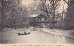 France Lyon Parc de la Tete d'Or La Riviere et le Pont couvert 1