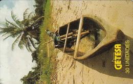 Equatorial Guinea, EQG-15, 30units, Wooden Boat, 2 Scans.