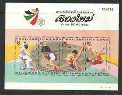 Jeux Sportifs De Chiang Maï (Escrime,billard,plongeon,saut à La Perche)  Un Bloc-feuillet Neuf ** De THAÏLANDE - Thailand