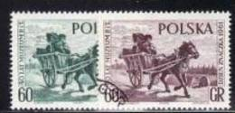 POLAND 1961 MICHEL NO: 1266-1267  USED /zx/ - Gebruikt