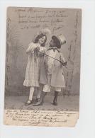 Illustration Théâtre ? Enfants Fillette Garçon Couleur Noire Costume Chapeau  - 1904 - Illustrateurs & Photographes
