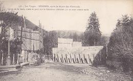 88 / ENONES Après Le Départ Des Allemands - Sortie De La Gare, Route Et Pont Sur Le Rabodeau - Senones
