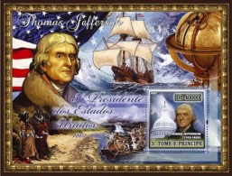 S. TOME & PRINCIPE 2007 - T. Jefferson, American Indians - Mi B580, YT BF377 - American Indians