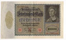 Reichsbanknote  -  10 000 Mark  -  19/01/1922  -  P 70 - [ 3] 1918-1933 : Weimar Republic