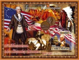 S. TOME & PRINCIPE 2007 - G. Washington, American Indians - Mi B579, YT BF376 - American Indians