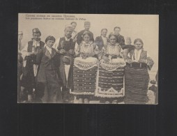 Macedonia PPC Serbian Peasants From Prilep - Macedonia