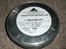 Rare bobine film 35 mm Les 3 P'tis Cochons Bande Annonce petits