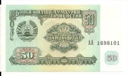 TADJIKISTAN 50 RUBLES 1994 UNC P 5 - Tajikistan