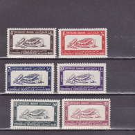 GRAND LIBAN - YVERT N° 122/127 * - COTE = 92 EUROS - SOIE - Grand Liban (1924-1945)
