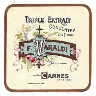 ETIQUETTE  F. VARALDI  CANNES - TRIPLE EXTRAIT CONCENTRE AUX FLEURS - Labels