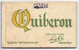 Carnet Quiberon 10 Cartes (Complet) La Plage, Port Maria, La Jetée, Chateau De La Pointe, Phare De Teignouse Port 100g - Quiberon
