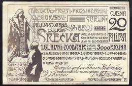 LOTTERY TICKETS      Beggars Society    ZAGREB  CROATIA   1900 - Lotterielose