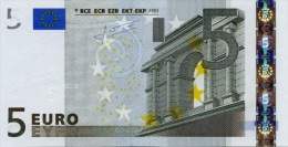 EURO NETHERLANDS 5 P TRICHET E005 UNC - 5 Euro