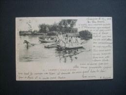 SAUMUR Passage De Rivière, Militaires  -  PRECURSEUR CIRCULEE 1903  L142 - Saumur