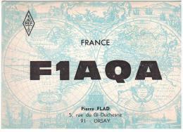 CARTE RADIO - QSL - CARTE RADIO QSL - FRANCE - ORSAY - 91 - FLAMME - 1969. - Radio Amateur
