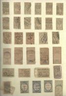 Francia . Conjunto De 31 Sellos Fiscales De Los Años 1880 A 1898 - Francia