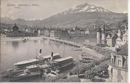 8636 - Luzern Seebrücke U. Pilatus Vapeurs - LU Lucerne