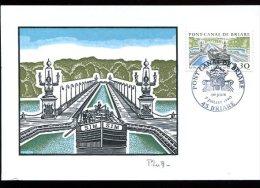 CM 7/07/90 : Le  Pont-Canal De BRIARE - Bridges