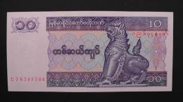 Myanmar - 10 Kyats - 1997 - P 71b - Unc - Look Scan - Myanmar