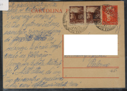 Storia Postale Italia Italy Intero Cartolina Postale Democratica - Storia Postale