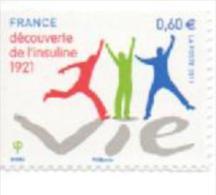 France 2011 : 635 ** Adhésif. Découverte De L´insuline. - France