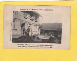 CPA  -  68 - FRIESEN - Le Bureau De Tabacs Français Et La Maison Moritz Marchand De Vins En Gros - France
