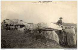 56 -LOCMARIAQUER- Le Dolmen De Manué Rétual-1ère Edition Karten Bost Dos Non Divisé - Locmariaquer