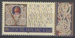 Vaticano 2004 - Francesco Petrarca  Nuovo** - Vaticano