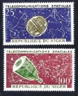 Niger: 'Telstar & Relay, 1964' / 'Space Satellites', Mi. 59-60; Yv. PA 36-37; Sc. C36-37 **